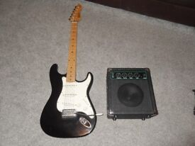 Hohner LX90L Electric Guitar and Amplifier