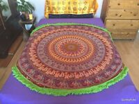 Indian Round Cotton Mandala Table Cloth Tapestry Bedspread Sofa Throw WallHanging