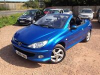2003 PEUGEOT 206cc Convertible! 1.6 ONLY 58,000 MILES! 1 YEAR MOT! WARRANTY!