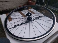 Black Vera Corsa deep rims wheelset (Front & Back wheel) + Handlebar + Saddle - Mint conditions