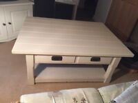 Chunky solid coffee table for sale