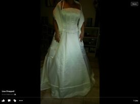 Brand new with tags ivory wedding dress size 12-14