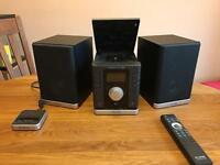 Pure Sirocco 150 DAB CD Stereo unit with speakers