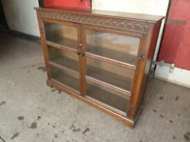 Oak Priory Style Display Bookcase Shelves Cabinet Delivery Available