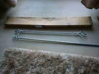 2x 82 inch poles 1x 53 inch with twisty ends