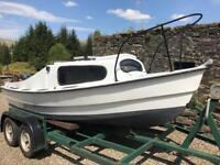 Nice Boat 15ft with 20hp Mariner Engine and trailer