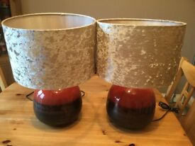 Pair of Next large table lamps. Great condition