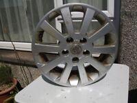 Vauxhall alloy wheel.