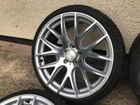 """19"""" 3sdm 5x120 staggered concave with mint tyres"""