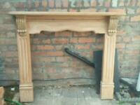 fireplace surround Waxed Wood