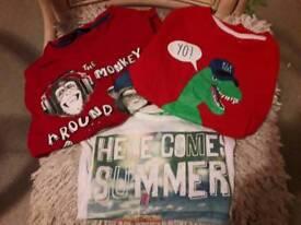 Boys t-shirts bundle x6 age 6-7