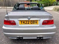"bmw 330ci m sport convertible m3 body kit 19"" mv2 alloys m3 exhaust 2001 automatic,leather interior"