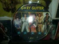 GARY GLITTER PICTURE DISC RECORD MINT