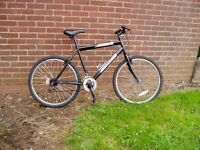 """MOUNTAIN BIKE, 20"""" FRAME, 26"""" ALLOY WHEELS, SERVICED NEW PARTS."""