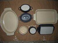 Le Creuset stoneware - oval and rectangular dishes, ramekins and casserole pots in Flint