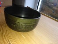 Tibetan Singing Bowl, & cushion - excellent condition
