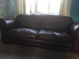 2 Genuine Leather sofas
