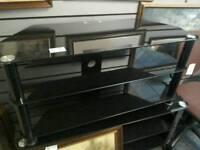 Black glass tv unit #34679 £25