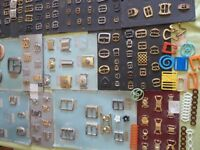 Bulk swimwear and decorative fittings for haberdashers or small manufacturer