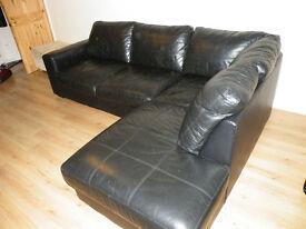 REDUCED Black Corner Sofa