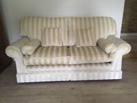 Cream sofa and arm chair