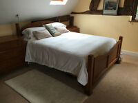 Maple veneer king size bed for sale - must go by 30th August!