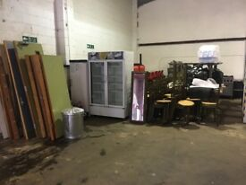 Cafe job lot tables chairs, fridges, cookers, microwave, sink units and more !!