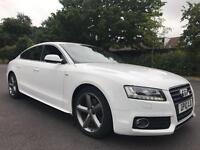 Audi A5 2.0 TDI Diesel 2010 S LINE WHITE 49K FSH AUTO STOP START 12 months MOT 2 keys LEATHER