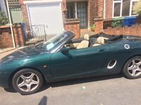 MG MGF racing green convertible cream leather 12 months MOT, hard top for winter