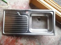FRANKE INSET KITCHEN SINK STAINLESS STEEL 1-BOWL 1000 X 500 used with mixer tap