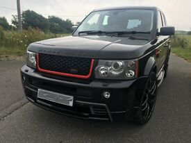 RANGE ROVER SPORT WITH FULL HST BODY KIT V8 TURBO DIESEL