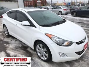 2013 Hyundai Elantra Limited ** HTD LEATH, SUNROOF, DUAL CLIMATE