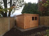 NEW HIGH QUALITY T&G 6x4 PENT ROOF GARDEN SHEDS £339.00 ANY SIZE (FREE DELIVERY AND INSTALLATION)