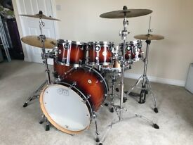 Drum workshop kit with Zildjian cymbals