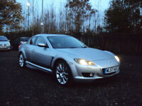MAZDA RX-8 PS 4DR COUPE 231BHP 6SPEED EXTENSIVEF.S.HSERVICEHISTORYLOWMILEAGE LONGMOTXENONS SIDESKIRT