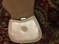 Real leather golden purse