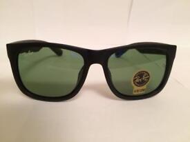 RayBan Justin Sunglasses RB4165 (matte black frame)