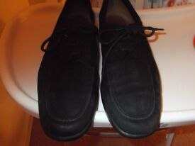 Bally black suede mens lace up Pieron shoes size 9
