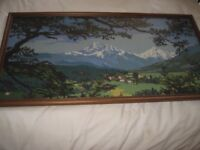 Vintage tapestry picture - large