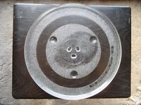 Glass dish for Sharp microwave oven model R-82STM-A with turntable and handbook.