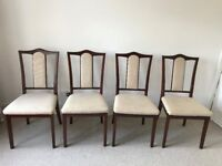 Matching 'Nathan' mahogany dining chairs. Excellent condition. Set going for £100