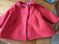 Jasper Conran Baby Girls Winter Coat/ Jacket 3-6 Months