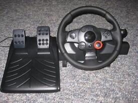 Logitech Driving Force GT force Feedback Steering Wheel