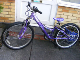 "GIRLS 24"" WHEEL TREK BIKE 13"" ALUMINIUM FRAME GOOD WORKING ORDER AGE 8+"