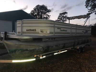 Crest Grand Caribbean Pontoon Boat & 50 HP Mercury Outboard