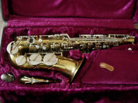 alto saxophone with all accessories -excellent condition, plays very well, lovely sax