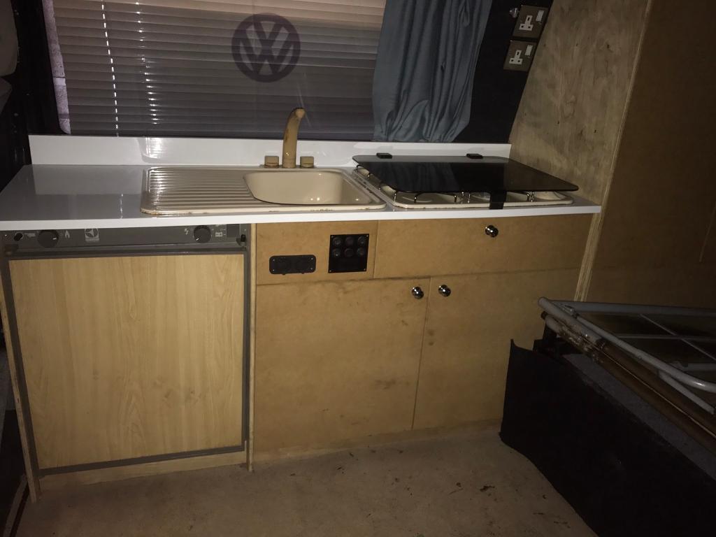 Vw t4 Transporter camper van interior cooker fridge sink