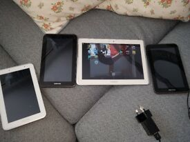 4 samsung tablets SOLD SOLD SOLD SOLD great for parts £75.00