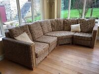 Conservatory interchangeable corner sofa / suite with coffee table