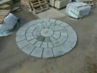 3 ring light grey 2.53 sq mtrs rotunda circle